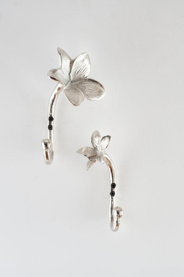 Silver Flower Wall hooks