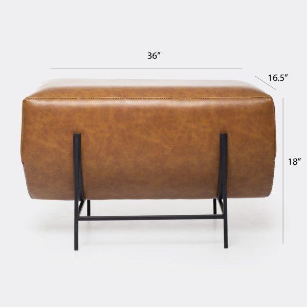 Luxury modern Living room Leather Ottoman