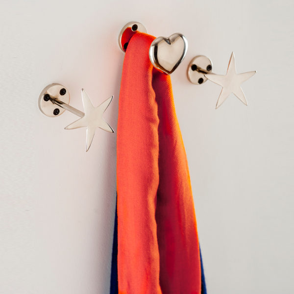 Heart and stars wall hook