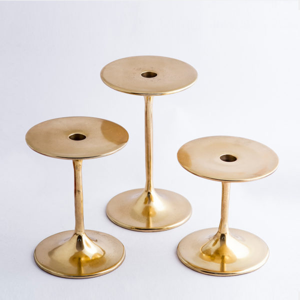 Metal gold candle holders