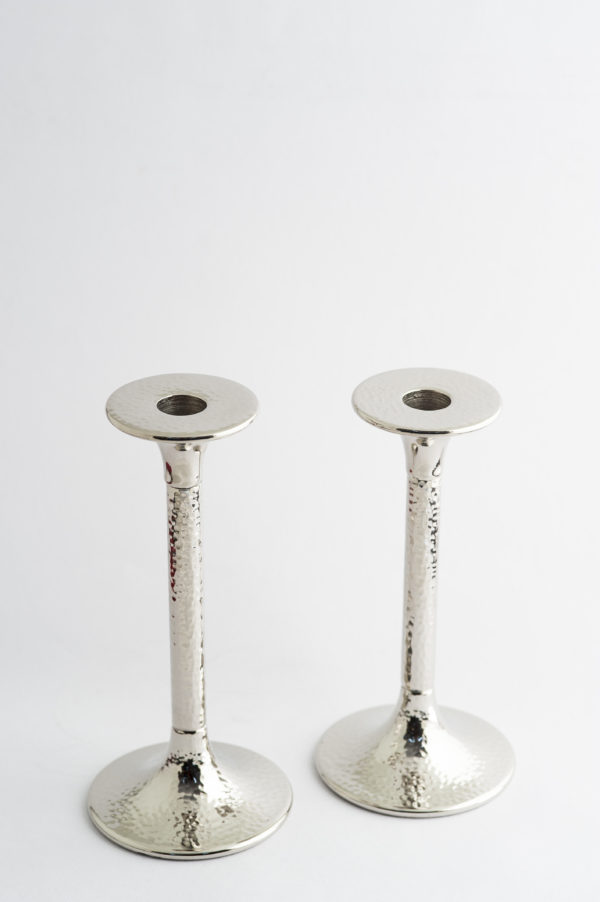 Silver Candle stands set of two