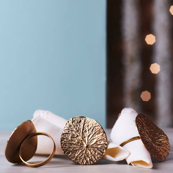 Brass Napkin Rings Table styling