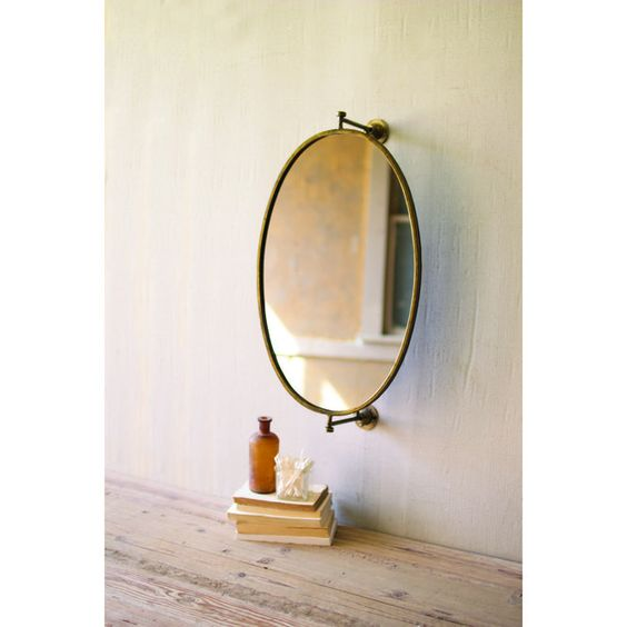 oval mirror for wall
