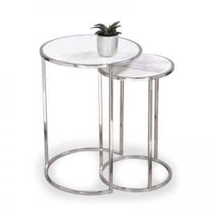 Nesting table metal : Topp Brass