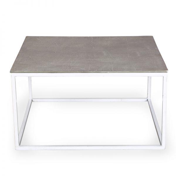 Metal coffee table for living room