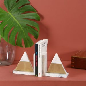 Marble Brass Bookend : Topp Brass