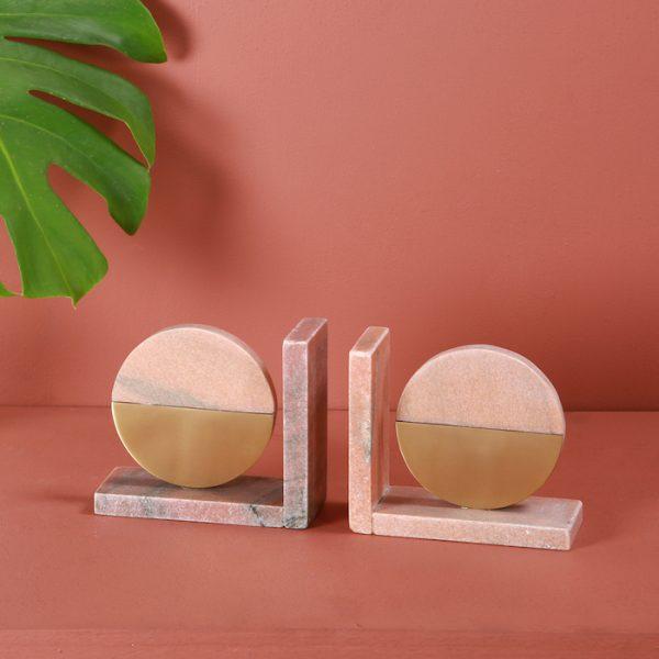 Marble brass bookend : Topp Brass