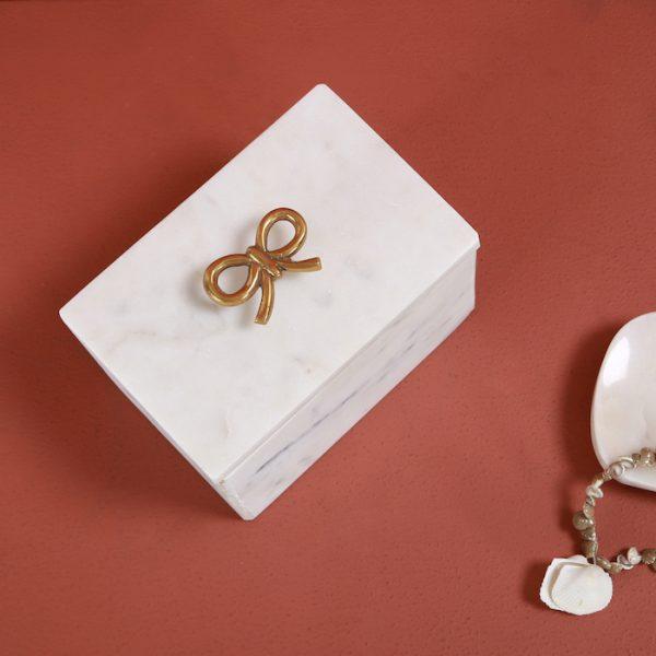 Marble box : Topp Brass