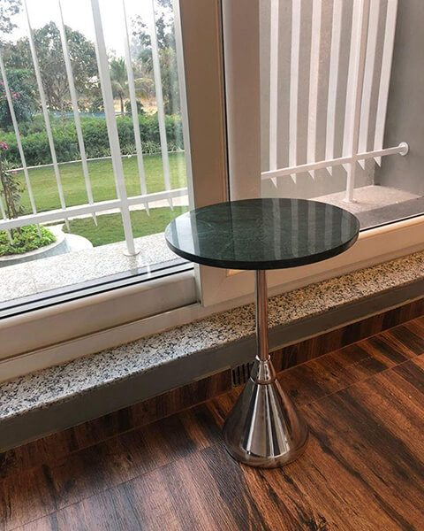 Marble Side Table-ToppBrass