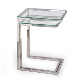 C shaped nesting table set for living room