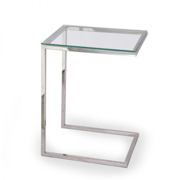 C shaped metal table for living room