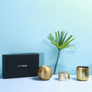 Candle Gift Box : Topp Brass