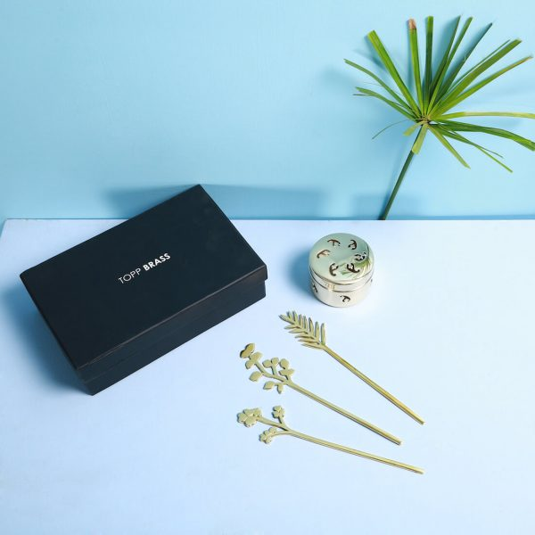 Brass stirrers gift box : Topp Brass