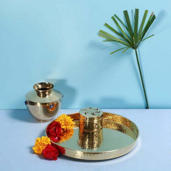 Brass thali : Topp Brass