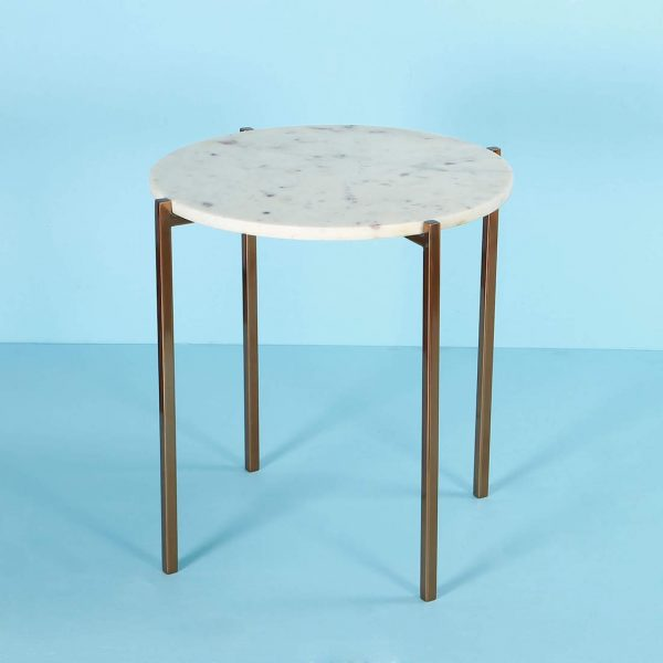 Gold Metal Side Table