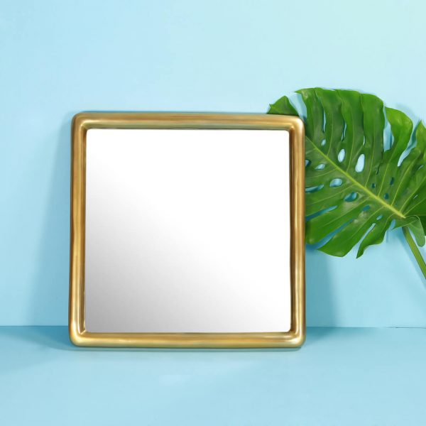 Square Gold Mirror