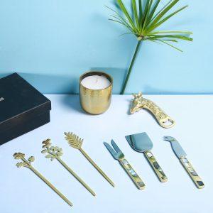 Brass bar set box