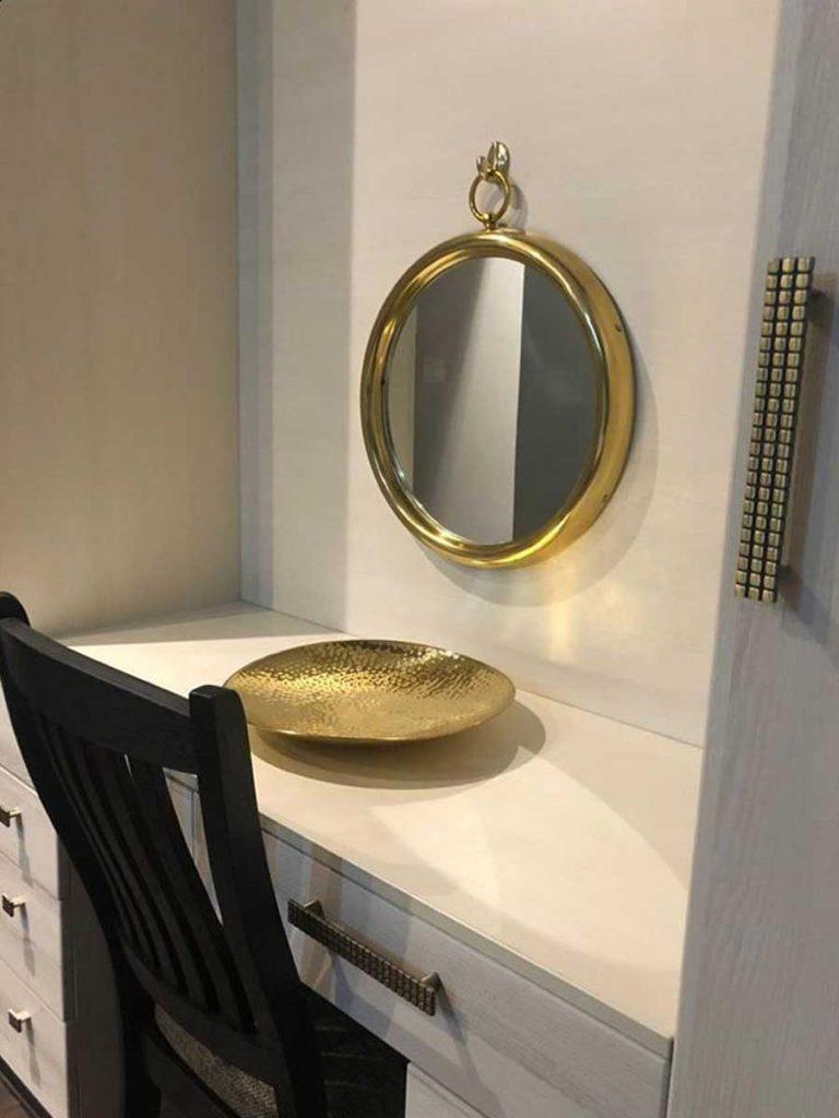 round gold mirrors-Toppbrass