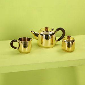 Top brass : Brass tea set