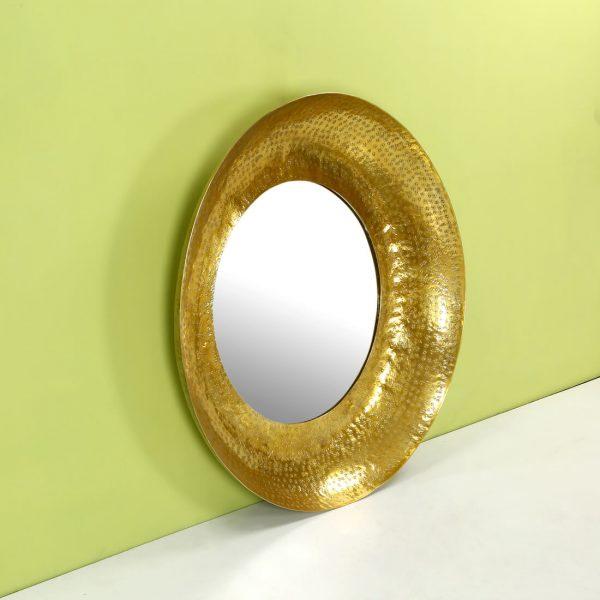 topbrass : Gold round mirror