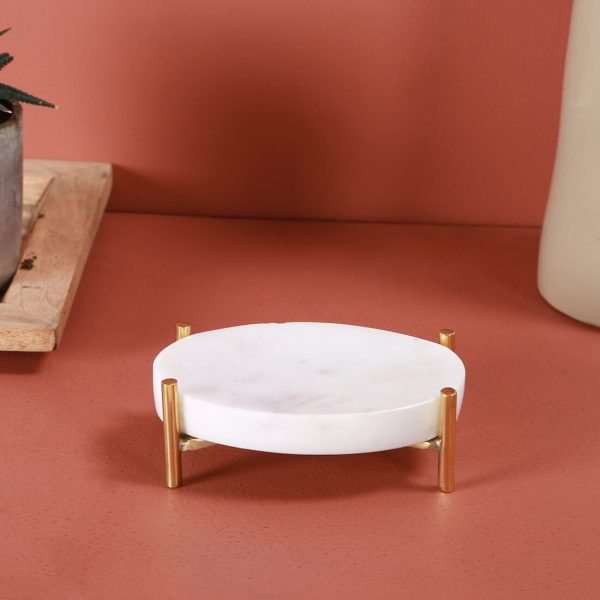 Brass and Marble soap dish